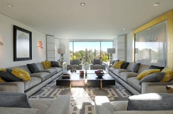 How to decorate large living room floor to ceiling window - Large pictures for living room ...