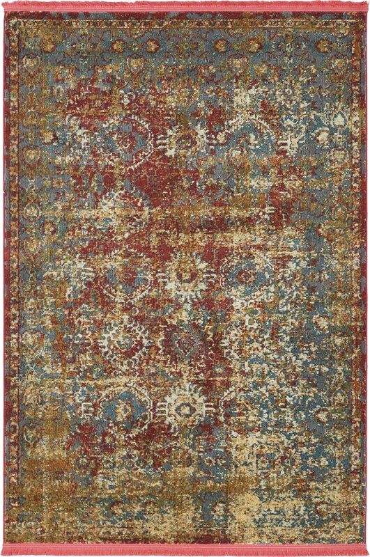 Lonerock Spanish Red Green Area Rug Area Rugs Rugs Rugs Online