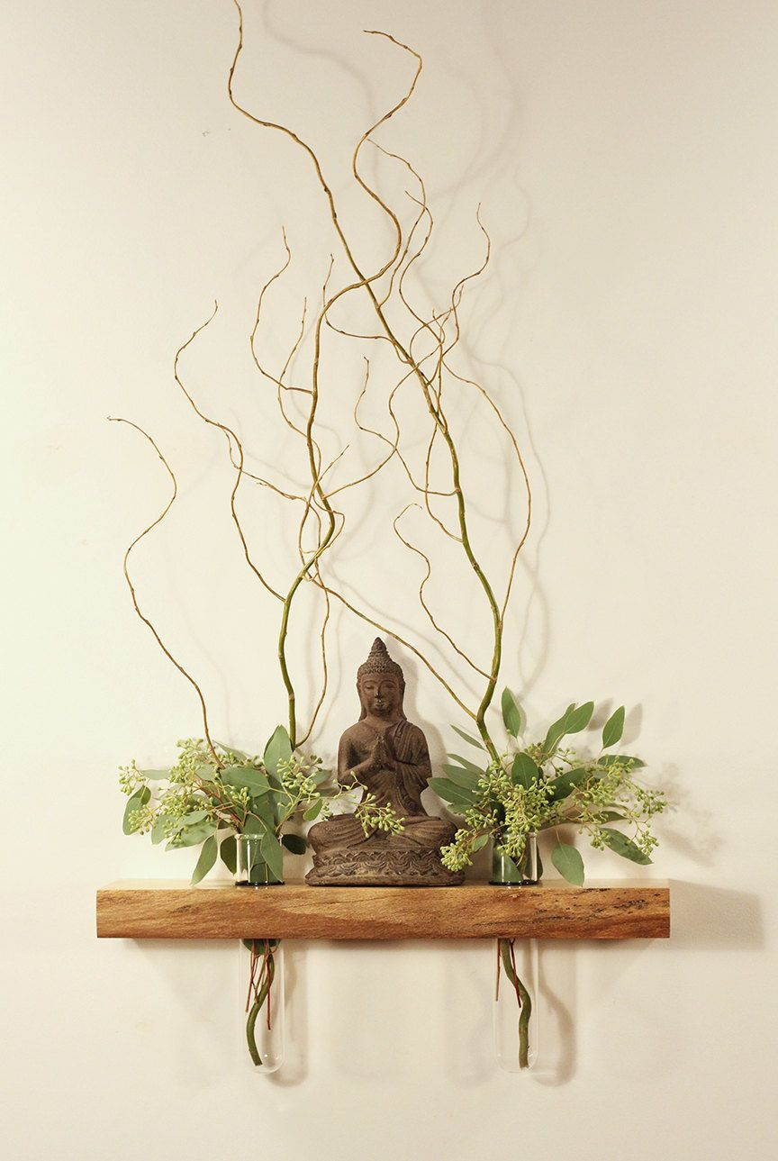 Floating Shelf Altar Vases Ming Tang Feng Shui Side