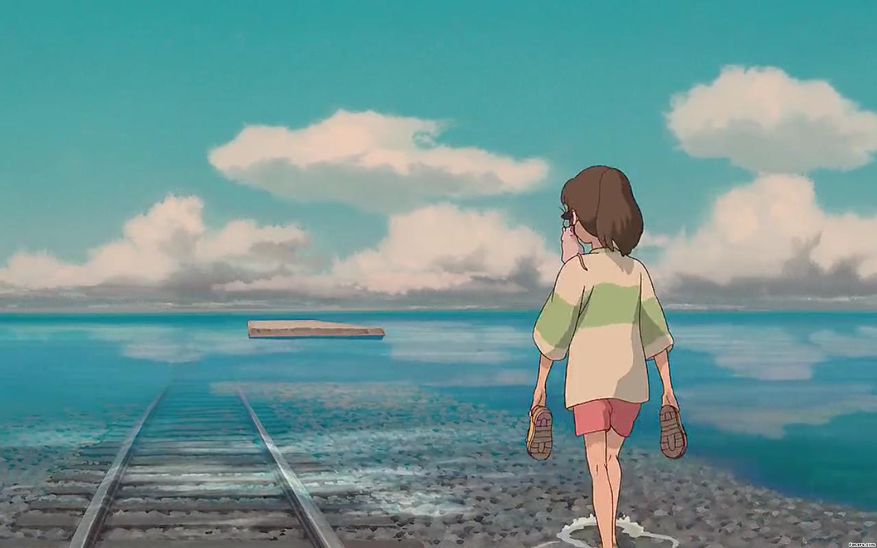64865 Spirited Away Train Tracks Screenshot Png 1280 800 Studio Ghibli Movies Studio Ghibli Studio Ghibli Background