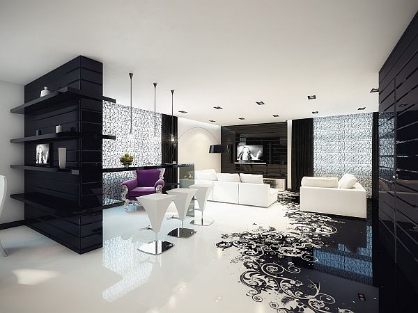 Splash of color in a black white environment