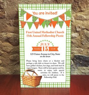 Bandana Banners Check Tablecloth Picnic Basket  This Design