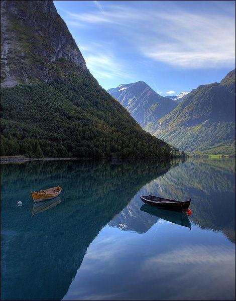 Summer Harbor, Hidlefjord, Norway