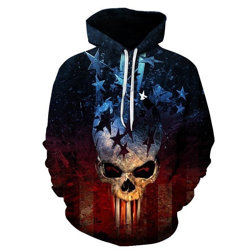 Patriotic Punisher Inspired American Hoodie en 2019 | Tête
