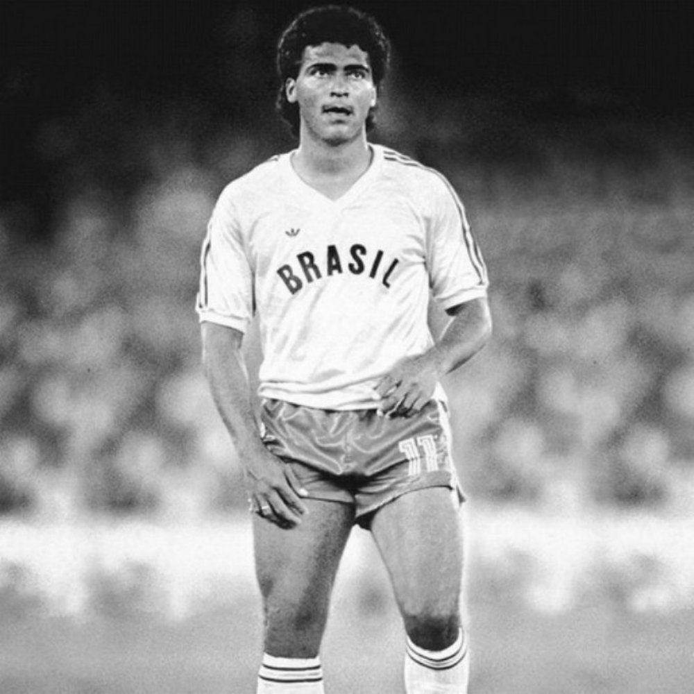 Romario turns out for Brazil at the 1988 Olympic Games