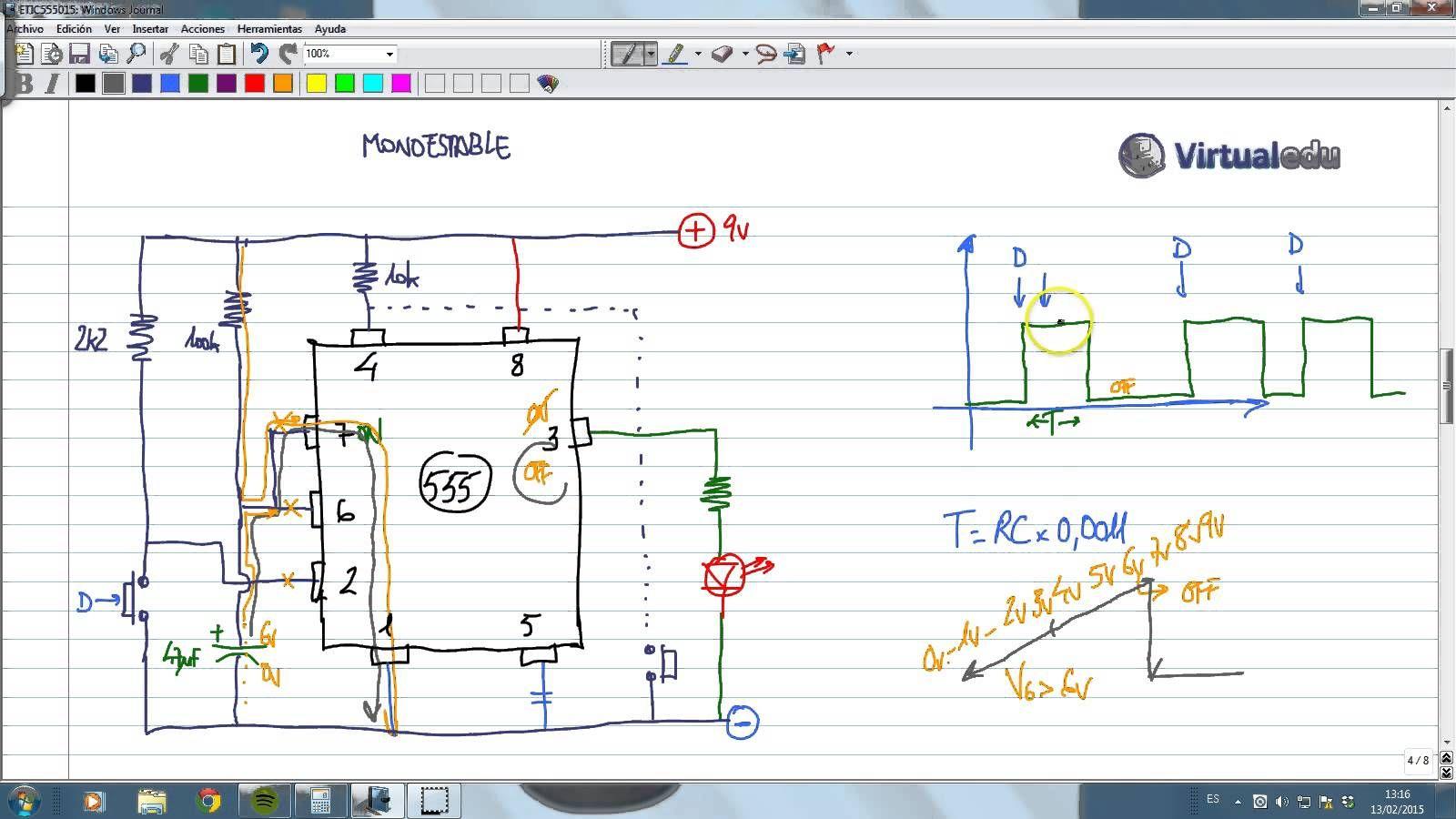 Electrotutorial 688 Ic 555 Funcionamiento 02 Electronica Diagram