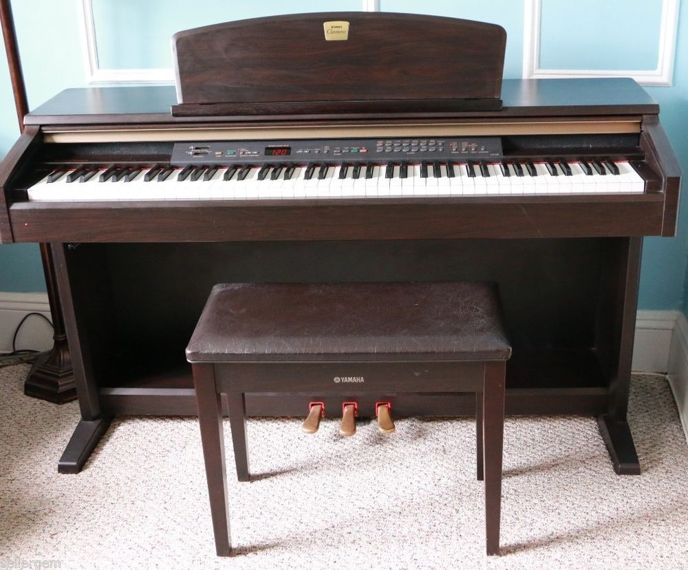 Yamaha Clavinova Clp130 Electronic Piano Bench Electronics Piano Piano Bench Clavinova