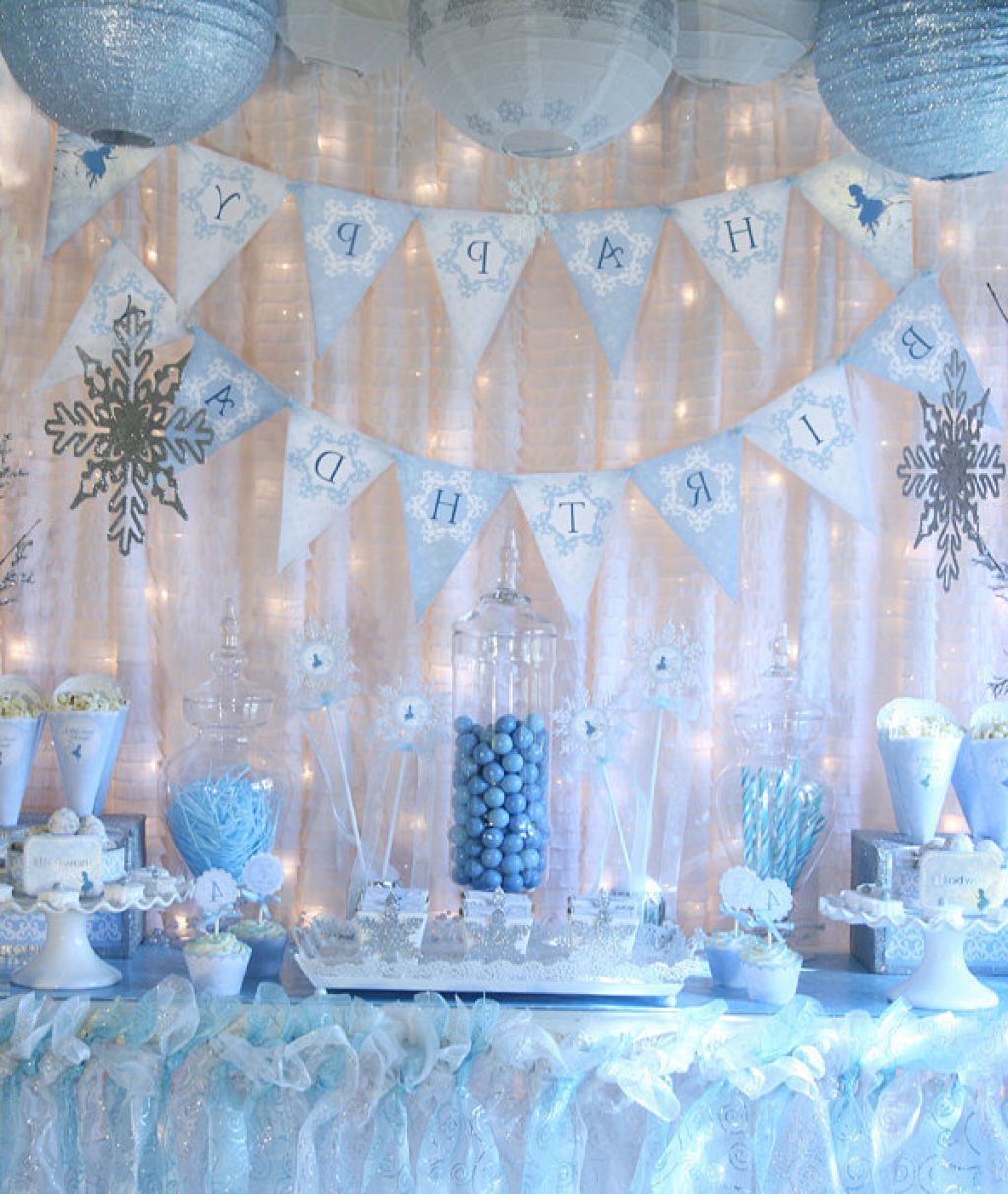 Frozen Themed Party Decoration Ideas Part - 25: Frozen Party Decoration Ideas - Google Search