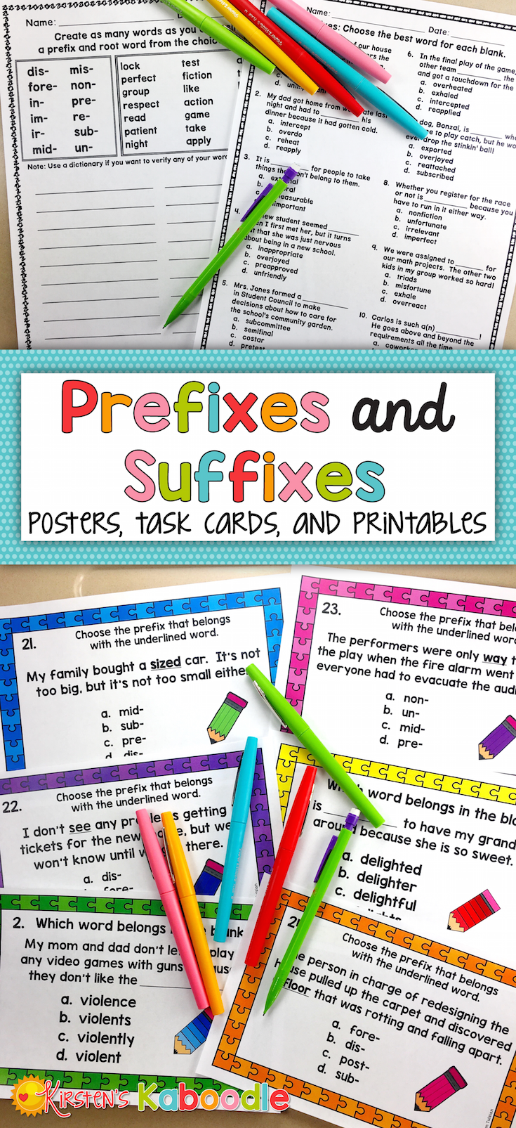 Prefixes And Suffixes Worksheets Activities And Posters Bundle