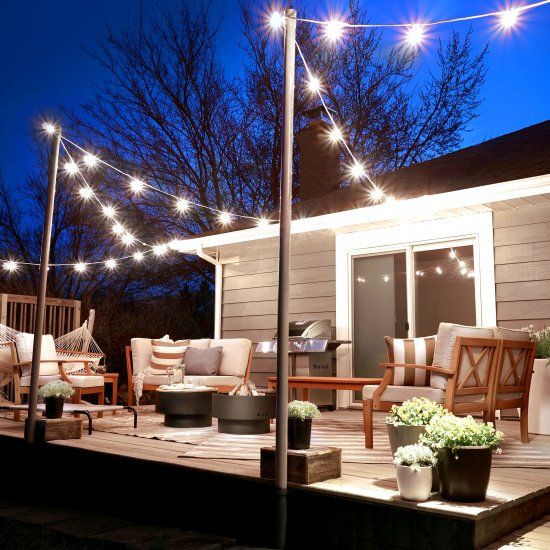 See How Erin Loechner Transformed Her Deck Into A Party Ready Haven String Lights
