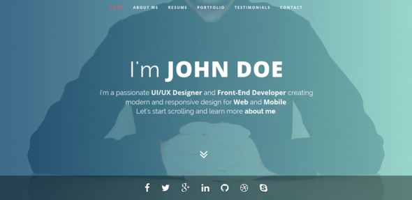Intima  Resume  Portfolio Wordpress Theme  Wordpress Portfolio