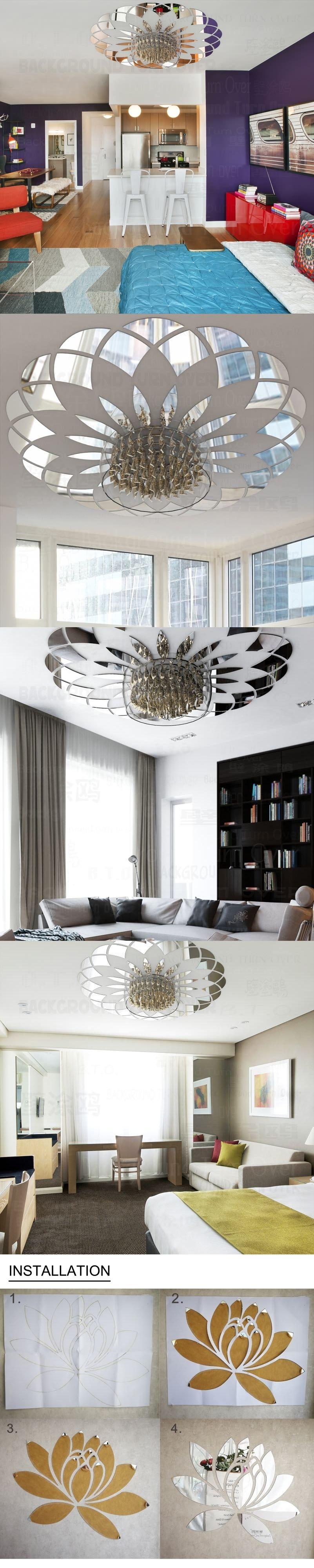 Modern Circle Pattern Decorative Ceiling Acrylic Mirror Wall ...