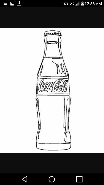 Pin By Diana Smith On Coloring Pages Bottle Drawing Coloring