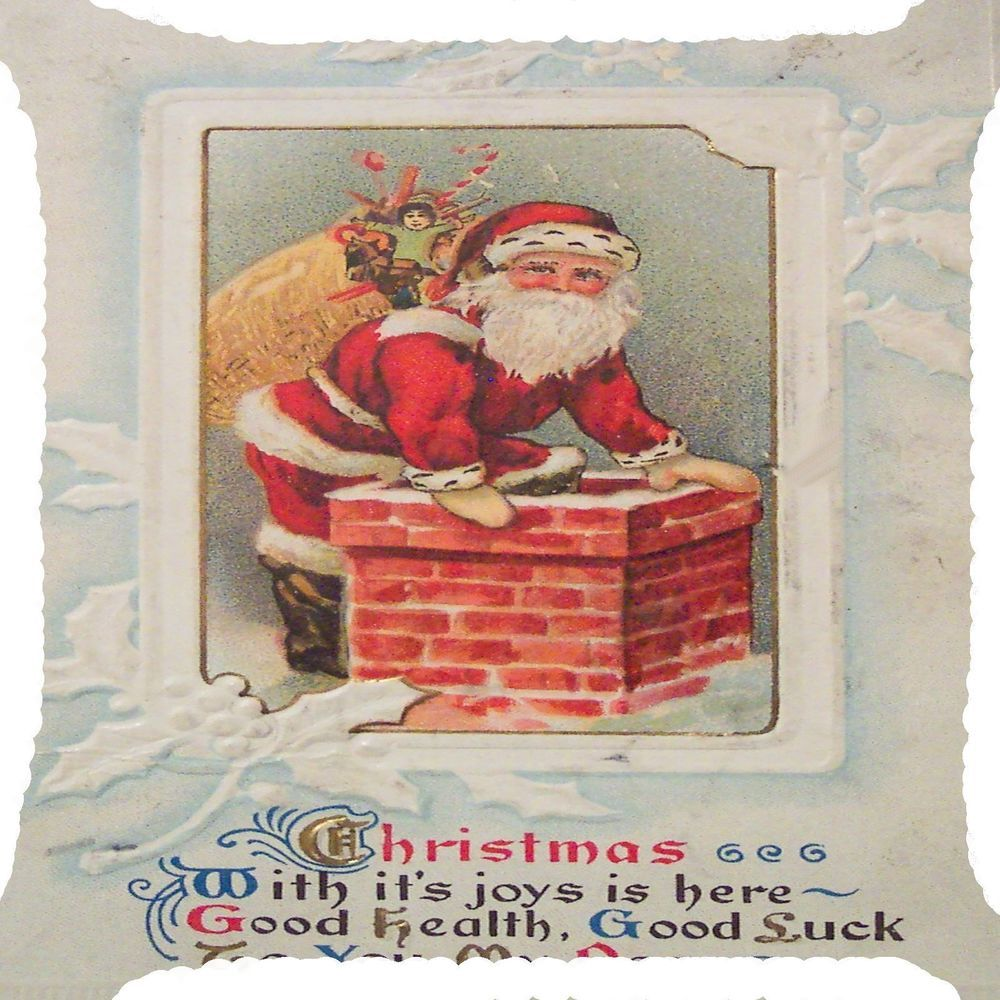 Christmas santa claus gift sack chimney side pillow cushion cover