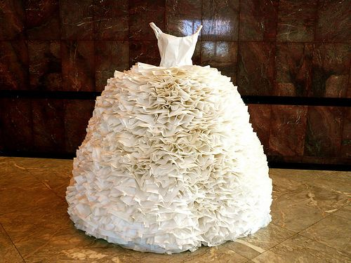 Paper Wedding Dress Weird Wedding Dress Funny Wedding Dresses Unusual Wedding Dresses