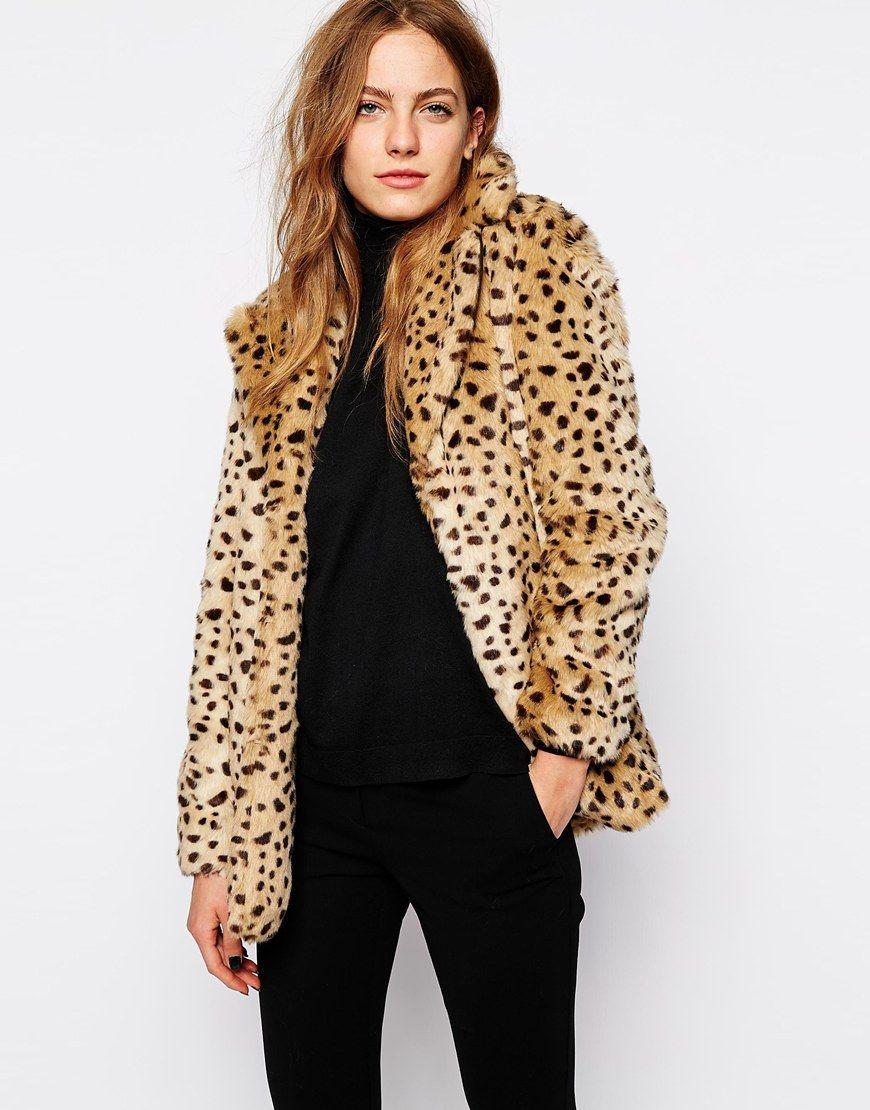 Mango Leopard Faux fur Coat | Coats I love | Fur coat, Fur