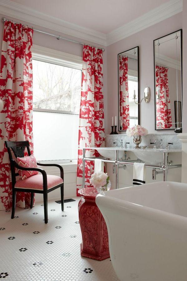 Badezimmer Deko Rot