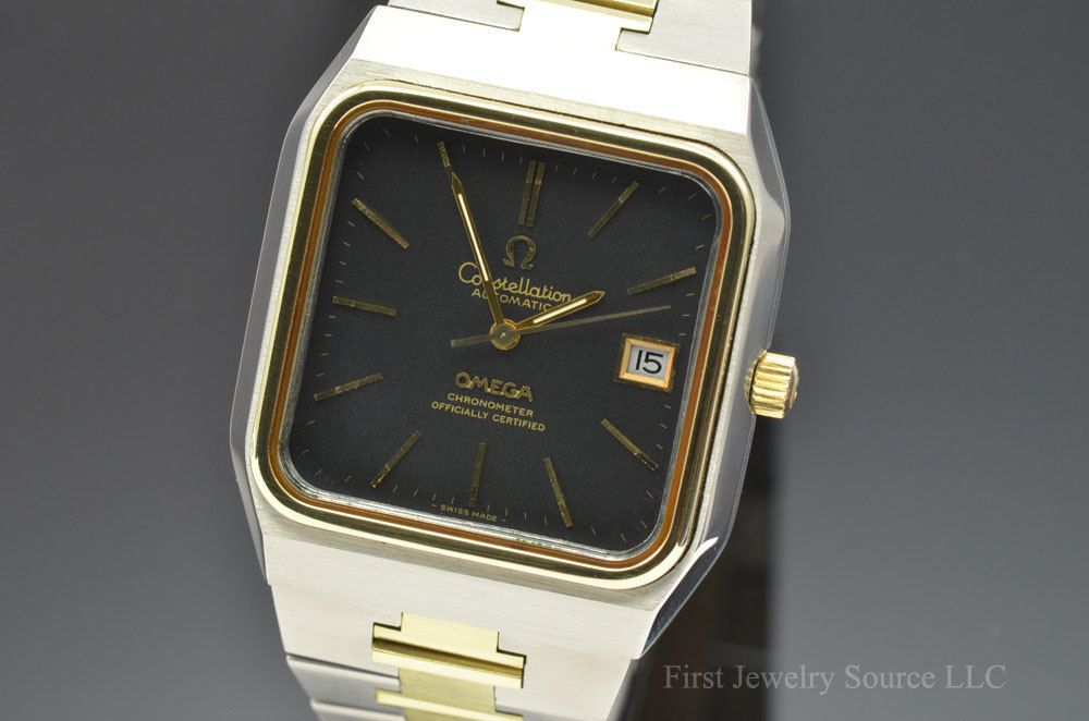 99ded27d73d Vintage Mens Omega Constellation Automatic Chronometer Gold   SS Watch  168.0062 -2200 USD