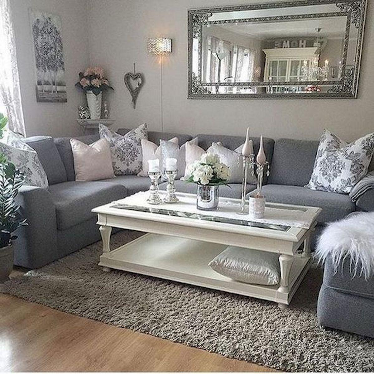 Grey Glam Living Room Ideas: 75 Best Farmhouse Wall Decor Ideas For Living Room (1