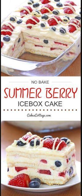 Pastel de hielo sin hornear Summer Berry - Cakescottage