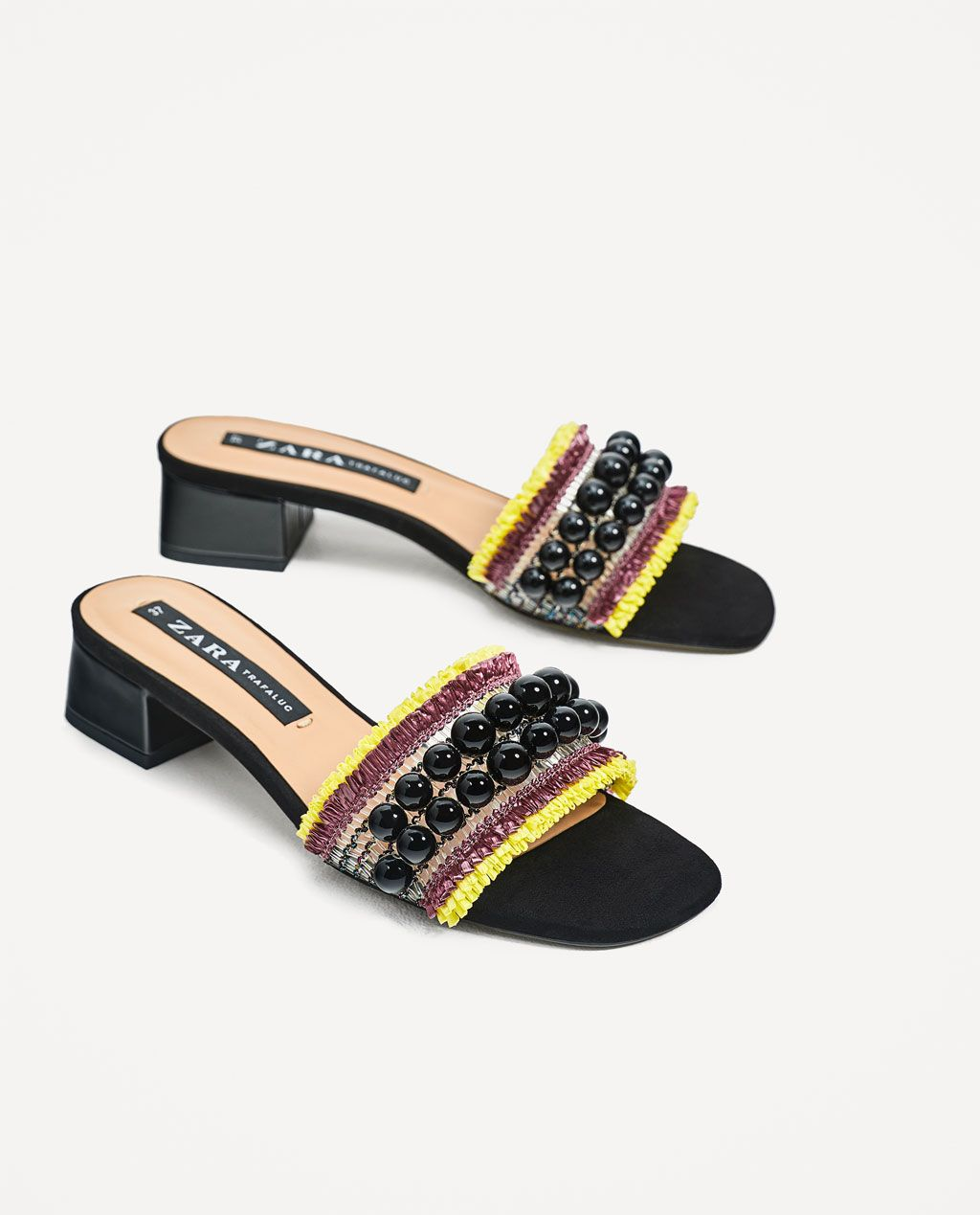 5b0c266433470 Image 1 of BEADED MULES from Zara | spring shoes in 2019 | Shoes ...