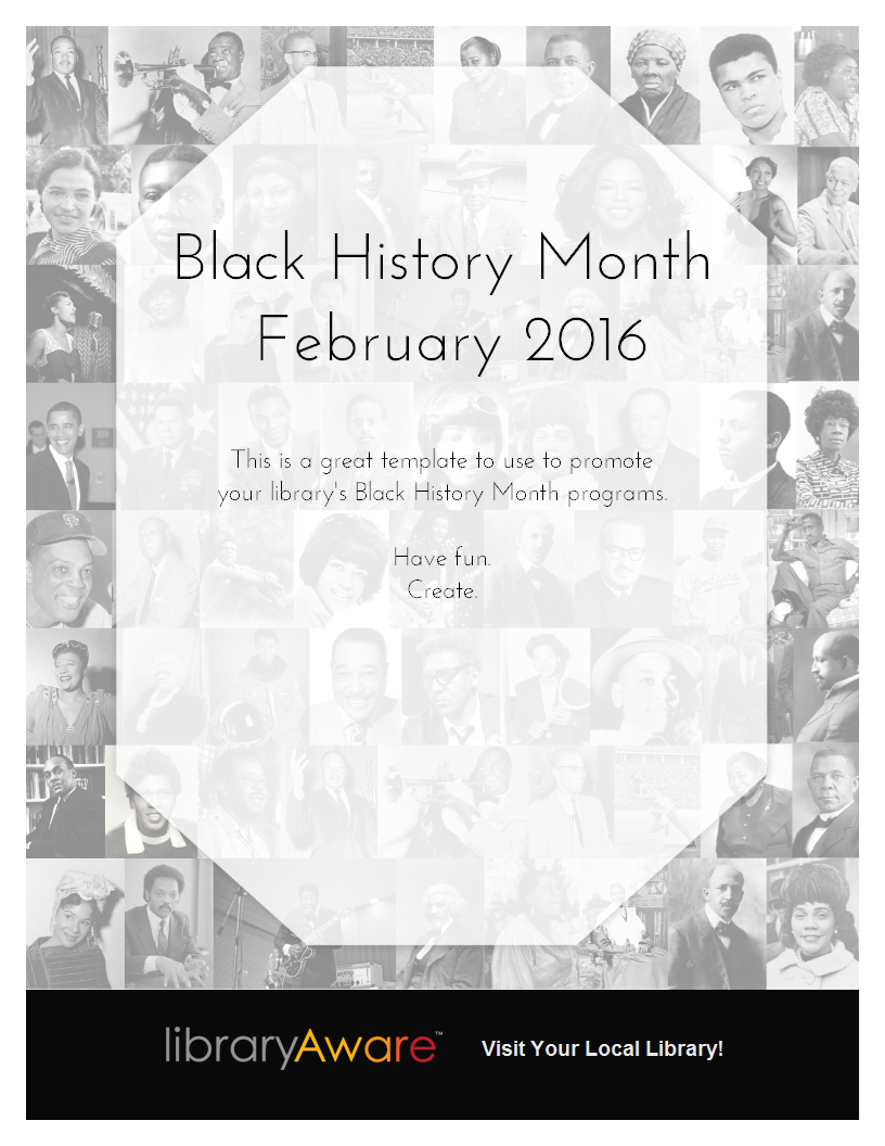 use this template to promote black history month programs at your