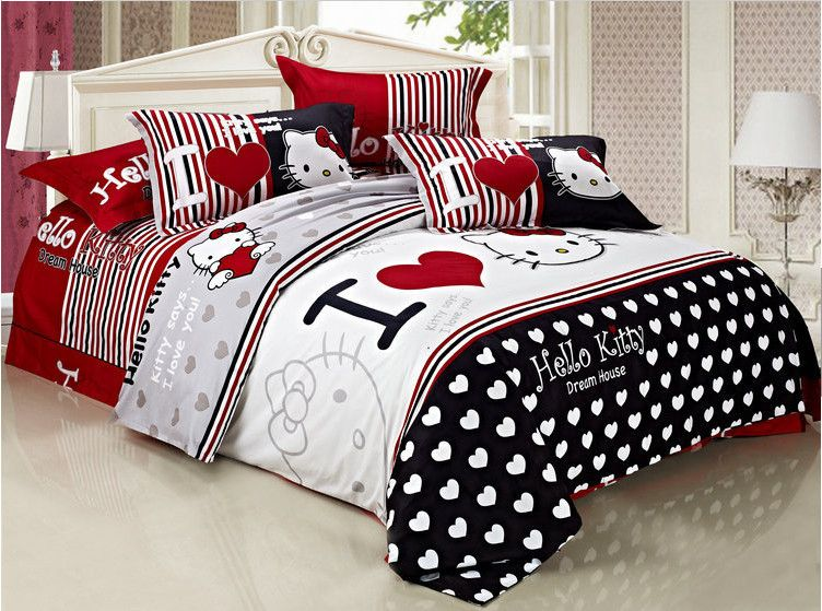 Compare Prices On Hello Kitty Queen Size Bedding Online Shopping