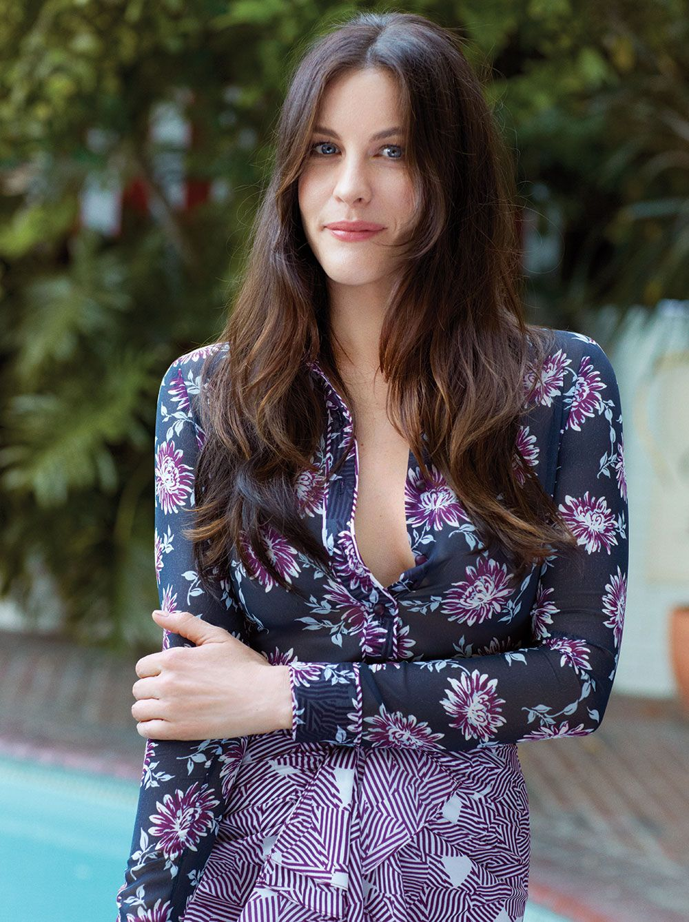Liv Tyler at a photo shoot for the summer issue of the magazine «California…