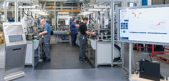 Mounting line from Bosch Rexroth
