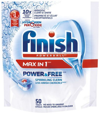 Finish Powerball Max In 1 Power Free Dishwasher Detergent