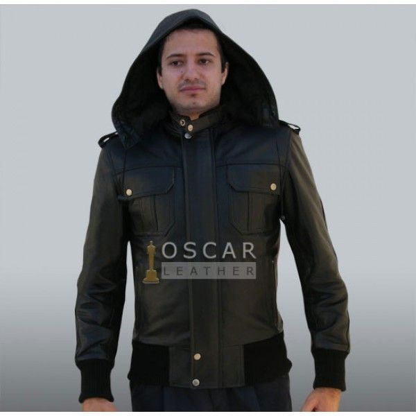 mens hooded leather jackets, mens hooded leather jacket, mens ...