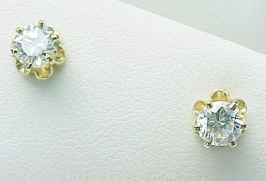 14K Yellow Gold 1.00 Carat VS Diamond Studs