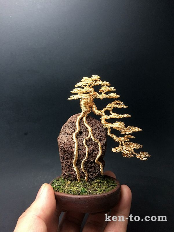 root over rock wire bonsai tree by ken to by kentoart on deviantart rh pinterest com Bonsai Silhouette Bonsai Wire Sizes