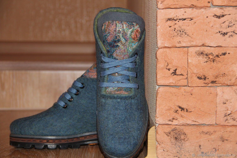 05e74c84b307f Купить или заказать Туфли валяные Гобелен в интернет магазине на Ярмарке  Мастеров. С доставкой по