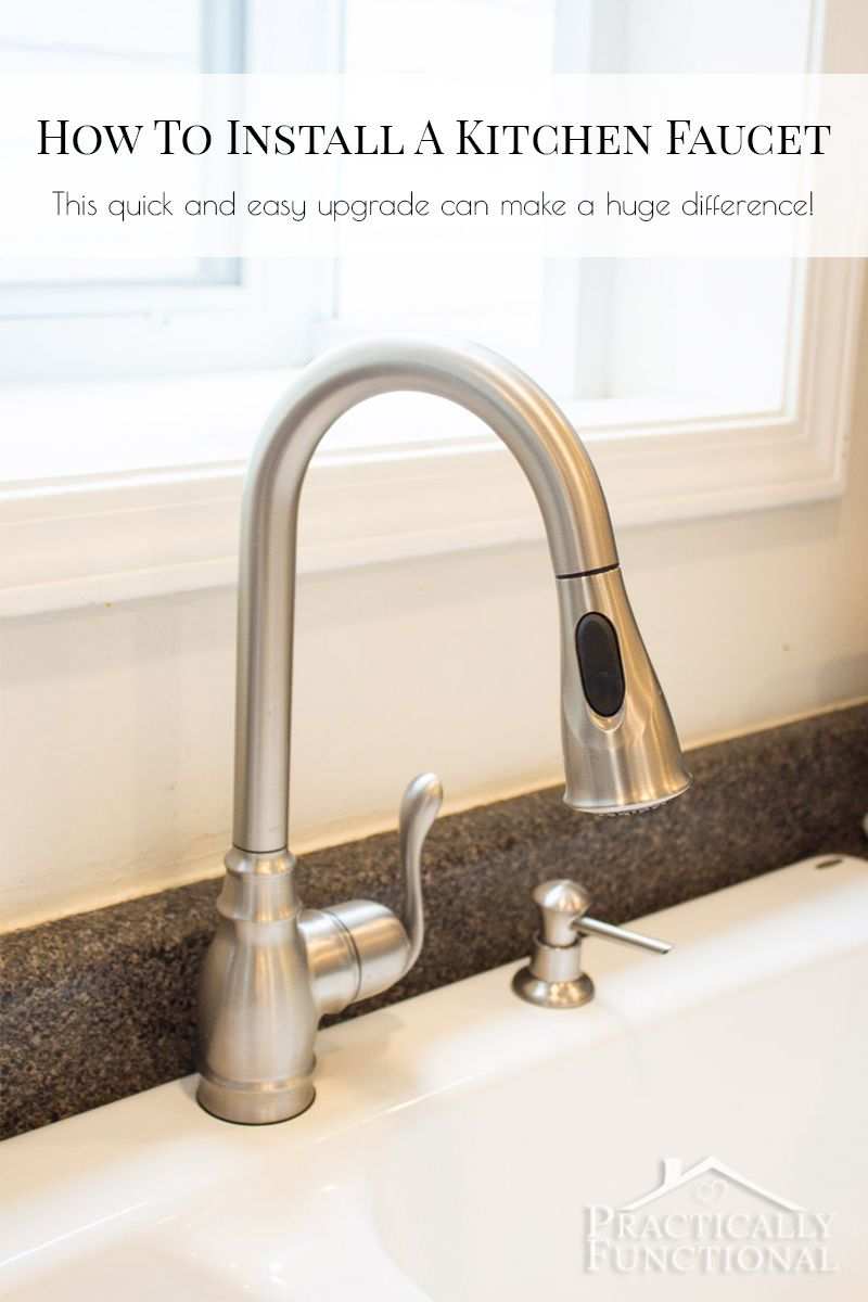 How To Install A Kitchen Faucet Kitchen Faucet Install Kitchen