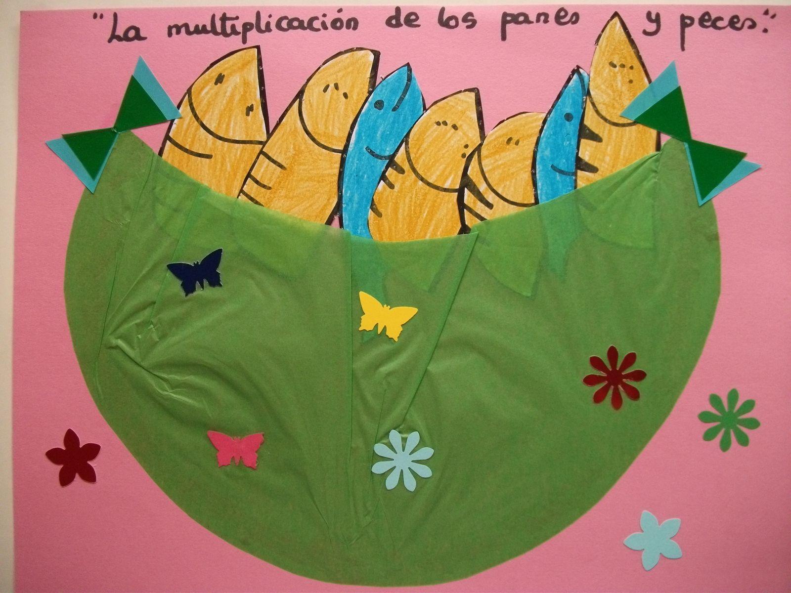 Multiplicación de panes y peces 2   Escuela Dominical   Pinterest ...