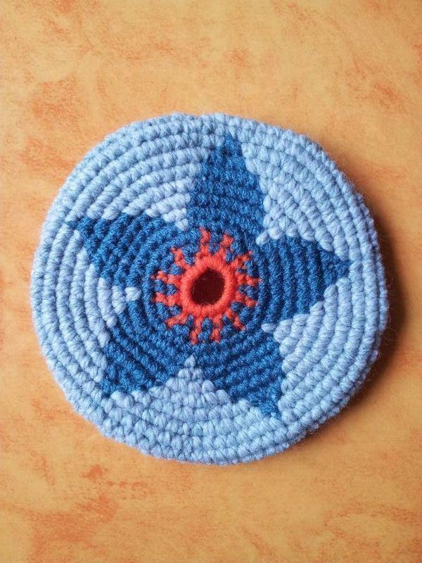 Frisbee fleur vintage