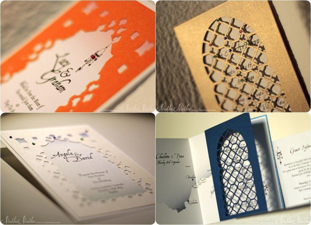 Moroccan themed wedding invitations