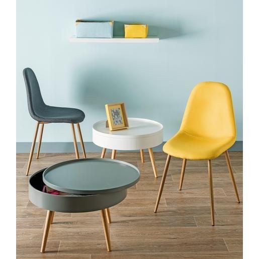 table basse scandinave avec rangement mdf et pin 60. Black Bedroom Furniture Sets. Home Design Ideas