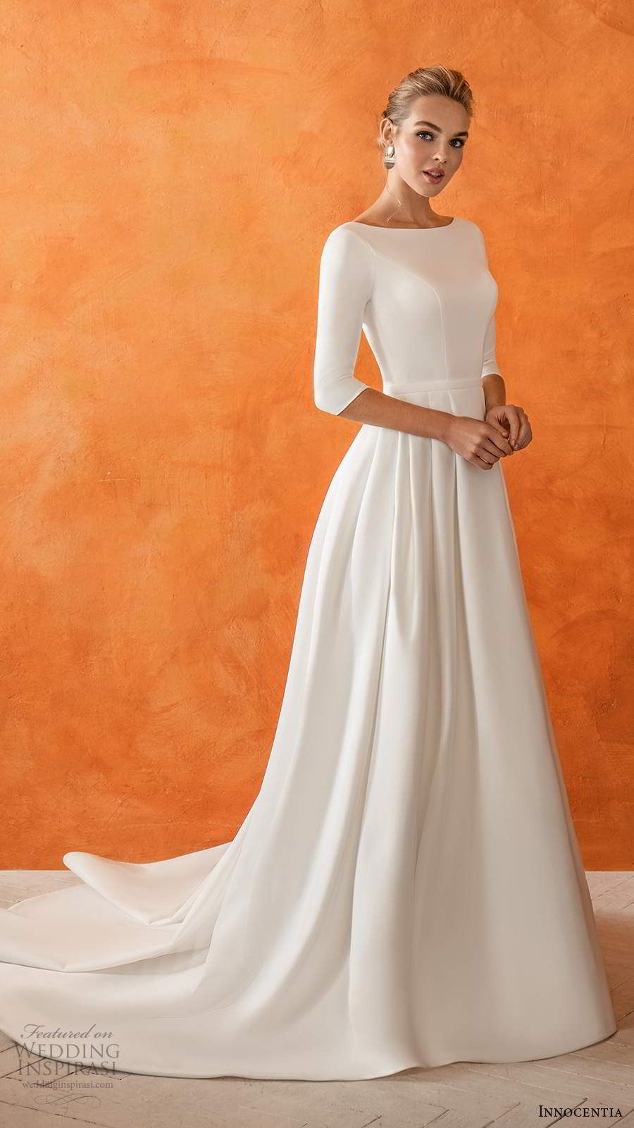 Innocentia 2021 Wedding Dresses Casablanca Bridal Collection Wedding Inspirasi Modest Wedding Dresses Wedding Dress Long Sleeve Wedding Dress Sleeves [ 1600 x 900 Pixel ]