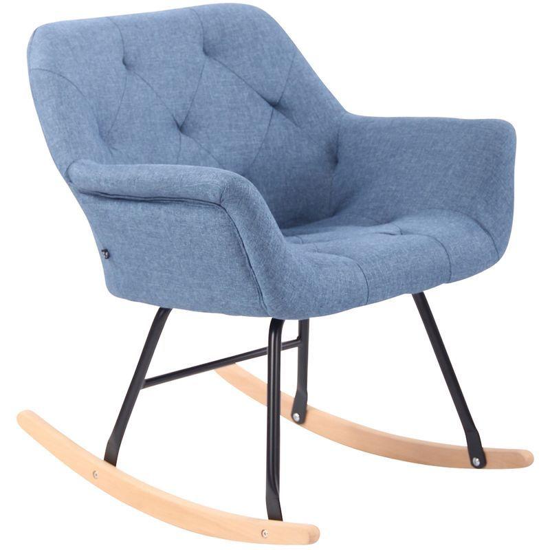 Chaise A Bascule Cabot Tissu Marron Clp152503403 Chaise A Bascule Fauteuil Et Fauteuil Bascule