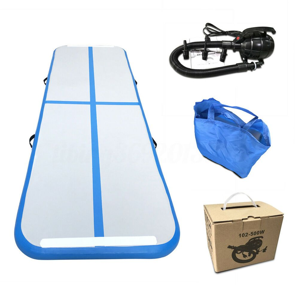 Advertisement Ebay 10ft Inflatable Air Track Gym Train Mat Home Floor Gymnastics Tumbling Pump Gymnastics Tumbling Mat Tumble Mats Gymnastics Mats