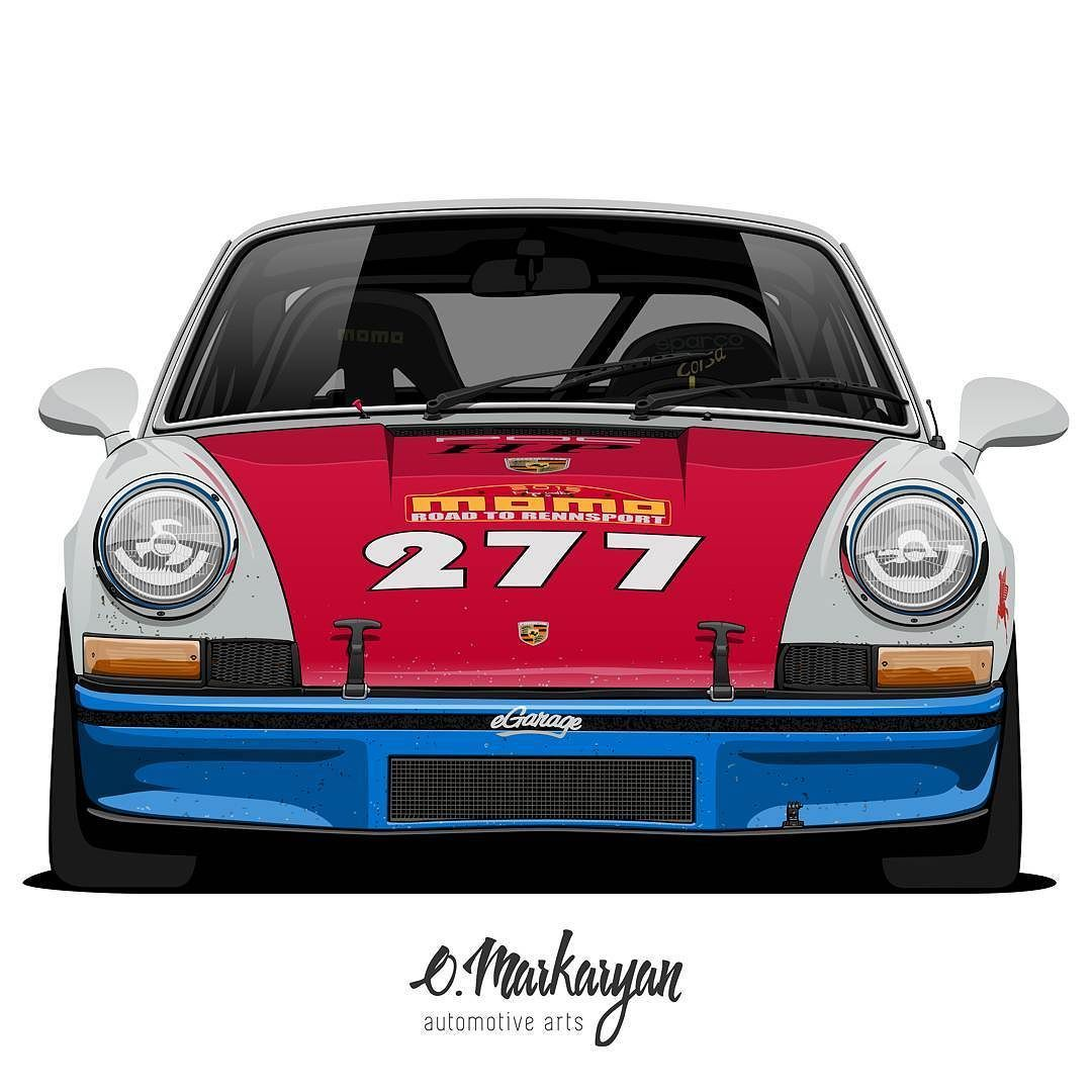 Porsche 911T 277 by Magnus Walker. Front view. Yet another