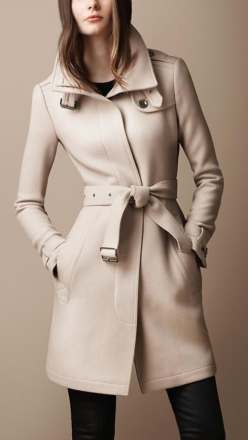 436118aef7c Belted Collar Wool Coat | Burberry | Fashion | Burberry coat ...