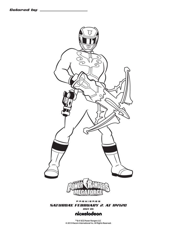 Coloring Pages Power Rangers Megaforce | Chillins | Pinterest ...