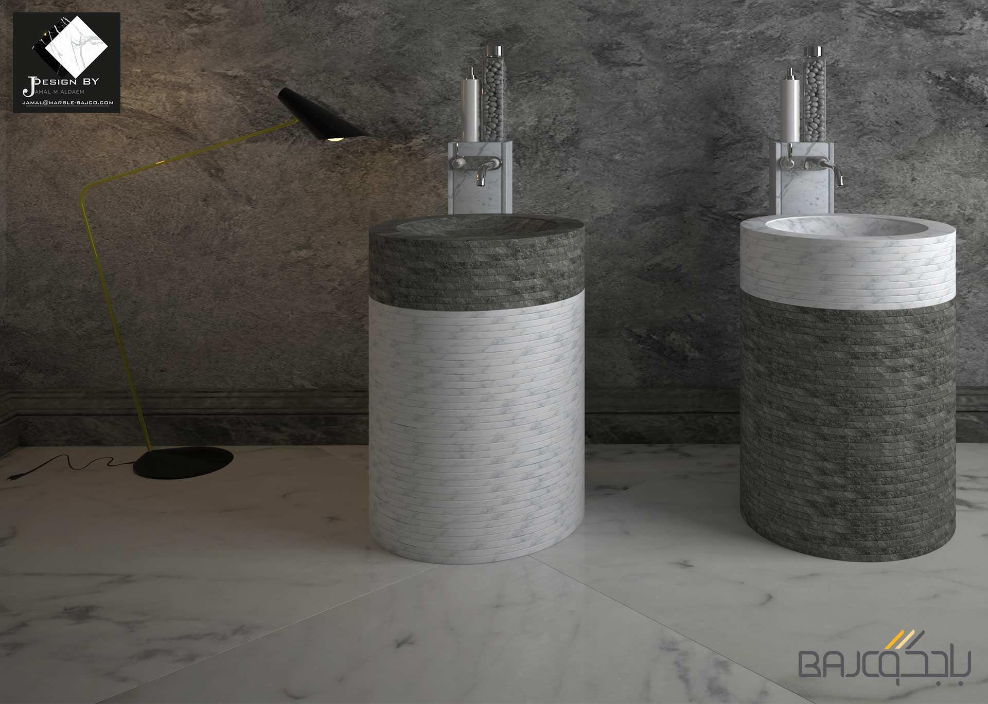 مغسلة حمام عصرية Marble