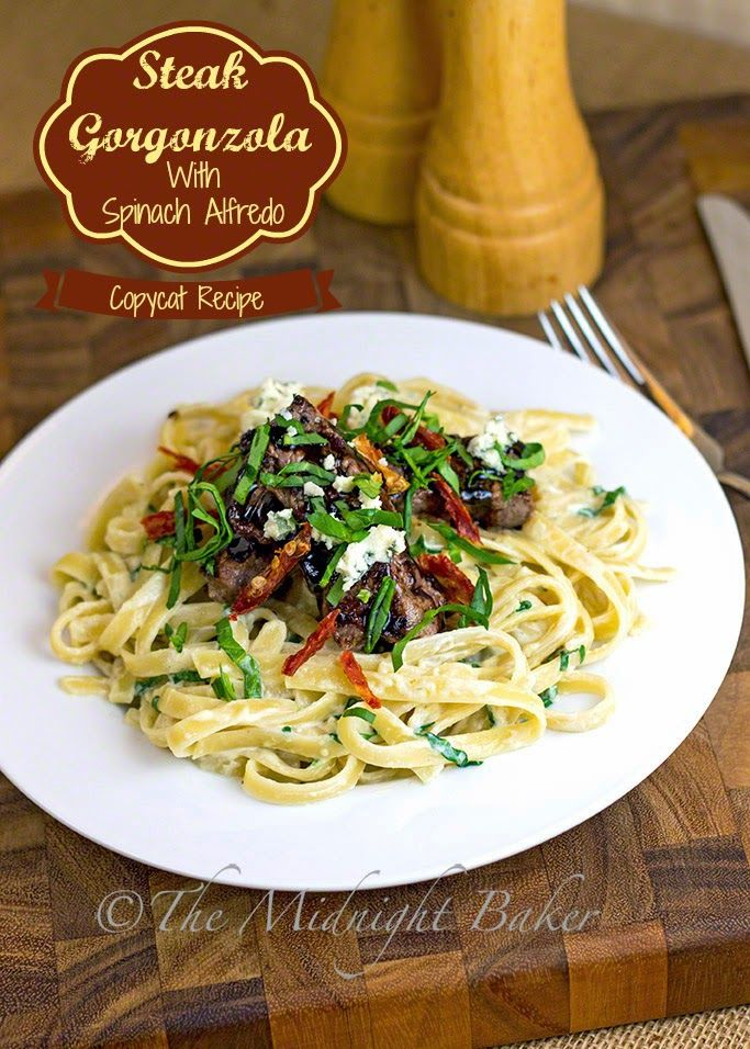 Copycat Steak Gorgonzola Alfredo Olivegardencopycat Dinner Recipe Blogger Recipes We Love