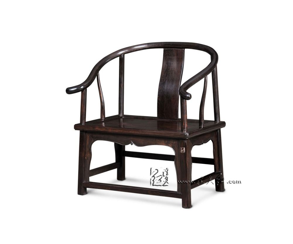 Chinese classical red wood furniture low armchair backed outdoor