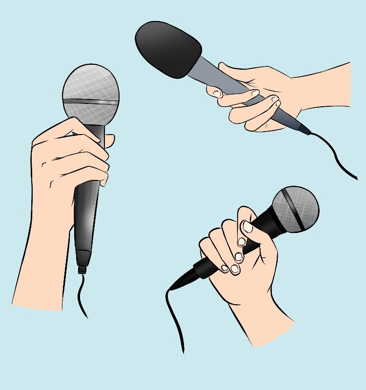 Hand Hand Drawing Drawing Hand Reference Pose Microphone Holding Microphone Music Art Hand Reference How To Draw Hands Microphone Drawing