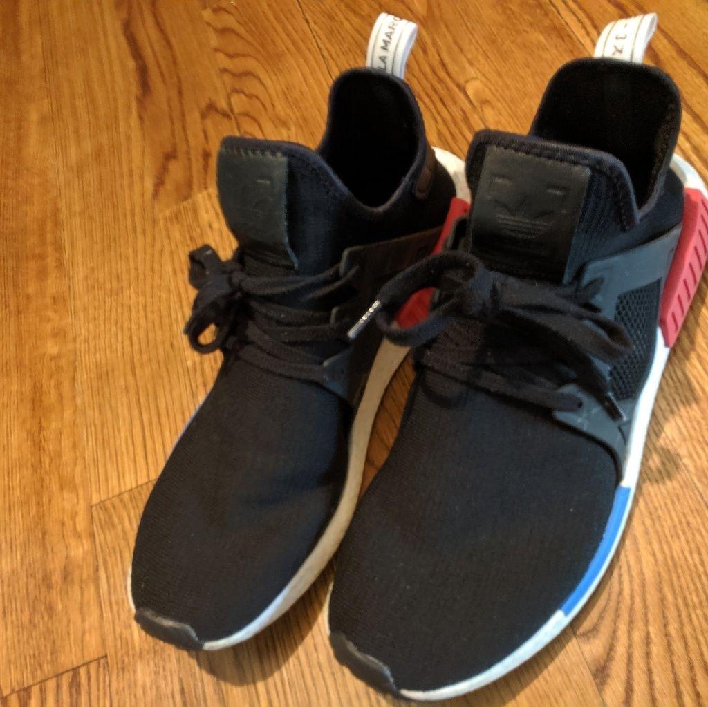 Adidas Nmd Xr1 Og Size 14 Black White Red Blue Black White Red